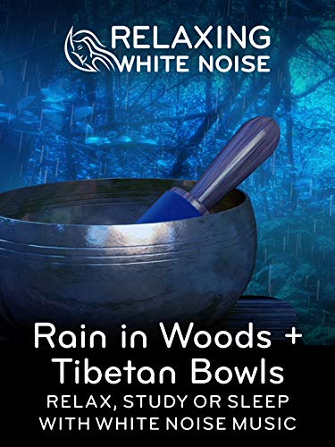 Relaxing White Noise: Rain in Woods + Tibetan Bowls - Relax, Study Or Sleep With White Noise Music