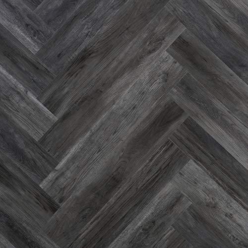 WALPLUS Wandpaneele in Holzoptik, 3D-Tapeten, selbstklebend, Kunstholz, Vinyl, zum Abziehen und Aufkleben, für Schlafzimmer, Küche, Wohnzimmer, Badezimmer, Dekoration, Aschgrau, 60 Stück