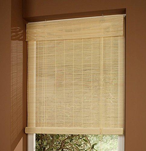 cg-sonnenschutz Bambusrollo Bambus Holzrollo Natur (60 x 160 cm)