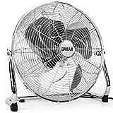 Bakaji Ventilatore Da Terra In Acciaio Con Pala da 45 cm Inclinabile Potente Motore a 3 Velocità,...