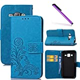 COTDINFOR Samsung Galaxy J1 2016 Case Wallet Bookstyle Pu