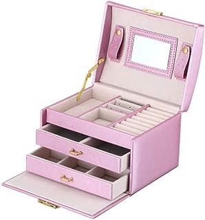 Jewelry Box Princess Fashion Jewelry Storage Box pu Leather Leather Jewelry Box Finishing Storage Collection Display Decorative Box S10/22 (Color : Purple)