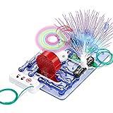 Flybiz de Ciencia para niños, Kit de experimentos científicos, construcción electrónica, Circuito eléctrico Inteligente, Kit Educativo de Ciencias, experimentos de Circuito de Bricolaje 33 Piezas