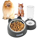 BPS Comedero y Bebedero Automático para Gatos y Perros Antisalpicaduras Dispensador Agua Alimentador Automatico Fuentes para Mascotas Tamaño M/L (M) BPS-5720