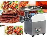 Hanchen Picadora de Carne Eléctrica Máquina de Picar Carne Industrial Embutidora de Salchichas Acero Inoxidable 250KG/H Molinillo de Carne con 2 Placas 2 Cuchillas CE