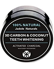 Jadole Naturals Natural 3D Carbon Activated Organic Charcoal Teeth Whitening Coconut Powder