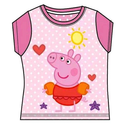 Peppa Pig Disney PP50003/1 T-shirt pour fille Rose 6 ans