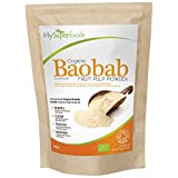 Baobab Biologico in Polvere (200gram), MySuperFoods, Ricco di Vitamina C, Calcio, Magnesio, Potassio, Certificato Biologico di Soil Association