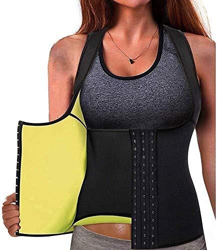 Denise Lamb Mujeres Sweat Waist Trainer Faja Body Shaper Workout Sauna Tank Top Chaleco para Mujeres Ejercicio de Pérdida de Peso,Adelgazante Doble de Barriga (Color : Black, Size : XL)