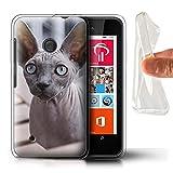 Stuff4 Gel TPU Hülle/Hülle für Nokia Lumia 530 / Sphynx Katze Muster Katze/Katzenrassen Kollektion