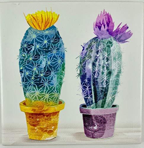 Quadro Legno Cornice Bianca Shabby Chic con Mattonella Ceramica nel Centro Decorata Colorata in Rilievo 100{d45e21e23f0ebf57049f5f97a99e488881f12fa0da11470e92f3427579cc18d6} Made in Italy Albero della Vita Sacra Famiglia Natura 25 x 25 Cm (2 Cactus Viola)