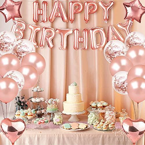 Decorazioni per feste di compleanno di Aloces, palloncino in lattice, palloncini in oro rosa coriandoli, accessori per feste di compleanno, palloncini per coriandoli, decorazioni per feste