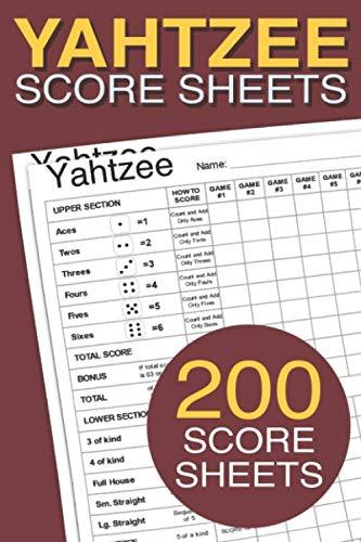 Yahtzee Score Sheets: 200 Score Sheets,6x9