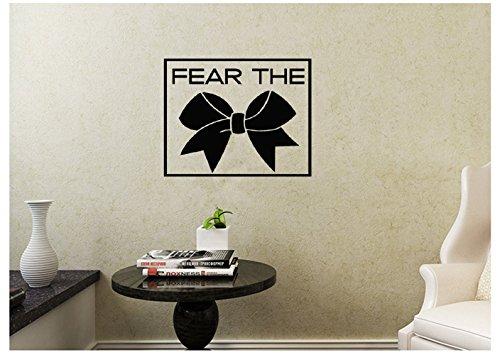 Wandtattoo 24 x 24 cm Cheerleader Fear The Bow Cheer Football School Sports Gymnastics Gym Wall Decal Wandsticker Home Decor for Bedroom Living Room