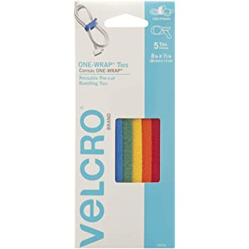 """Self Gripping Cable Ties Reusable Strong And Adjustable Velcro Brand 8/"""" x 1//2/"""""""