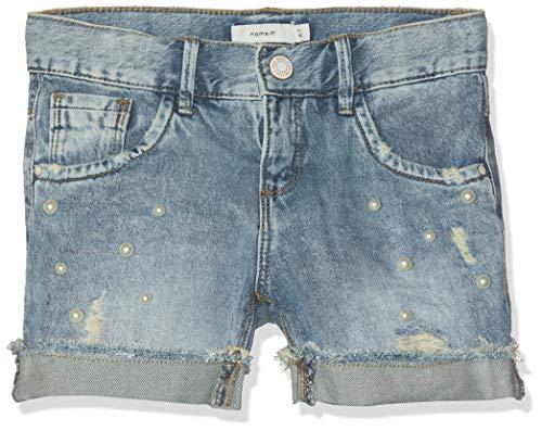Name IT NOS Mädchen NKFRANDI DNMTALA 1176 NOOS Shorts, Blau (Light Blue Denim), (Herstellergröße: 152)