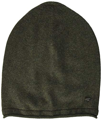 TOM TAILOR Herren Basic Beanie-Mütze, 24244-colored Forest Green, OneSize