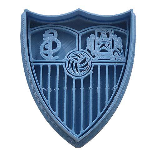 Cuticuter Fútbol Sevilla Cortador de Galletas, Azul, 8x7x1.5 cm