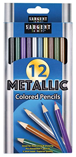 Sargent Art (SARAD) Metallic Colored Pencils, Assorted