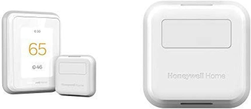 Honeywell T9 WIFI Smart Thermostat + 3pk Honeywell Home Smart Room Sensor (Compatible with Alexa and Google Assist)