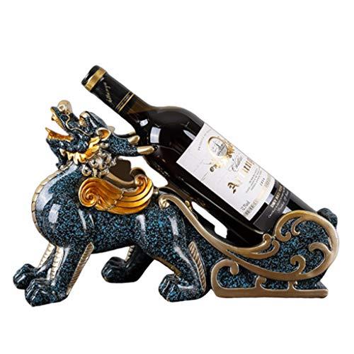 botellero vino resistente Creativa Botellero, titular de la estatua de la figura de Lucky botella de vino Vino Caddy Organizador de resina de acabado de mesa Vino Bastidores Home Crafts Botellero inde