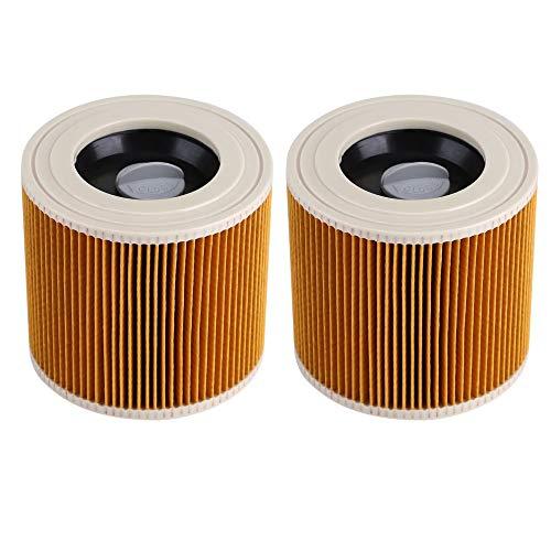 2 pezzi Filtro a cartuccia Cartucce per Aspirapolvere umido/asciutto Aspiratori umidi multiuso/aspirapolveri Kärcher A 2204 WD2 WD3 MV2 MV3 WD2.200 WD3.500 P WD 3.200, WD 3.500 P come 6.414-552.0