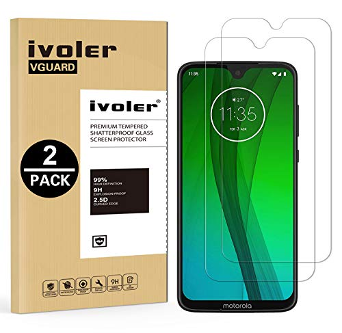 iVoler [2 Pack] Pellicola Vetro Temperato per Motorola Moto G7 / Motorola Moto G7 Plus, Pellicola Protettiva, Protezione per Schermo