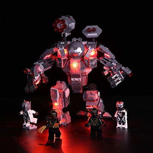 Licht-Set Für (Marvel Super Heroes War Machine) Modell - LED Licht-Set Kompatibel Mit Lego 76124, Modell...