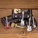 Pin's Guitare Geepins 6 Pack | Magnifique Broche Miniature | 52 mm | À Porter sur un Sac à Dos, une Chemise, une Veste, un Revers, un Chapeau ou une Cravate | Présenté dans Très Joli Étui à Guitare