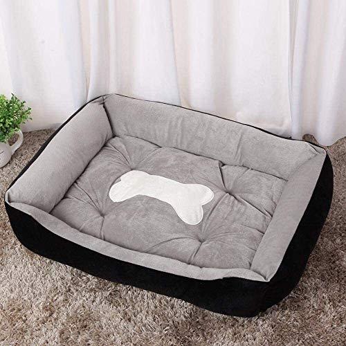 YYhkeby Bett for Hunde warmen Hundematte Matratze Haus Winter-Katze-Bett-weichen Nest Hunde Baskets Welpen Nest-Grey_XS, blau, XS Jialele ( Color : Black , Size : XXS )