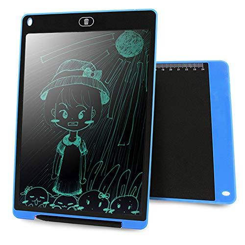 GUAN GOODAO draagbare 12-inch LCD-schrijftablet tekening graffiti, elektronische handschrift pad bericht grafische kaart ontwerp papier met schrijfveer, CE/FCC/RoHS gecertificeerd (zwart) Goede Qua, blauw