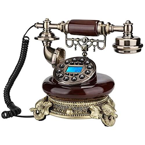 Figurines de estatua de escultura para el hogar patio patio césped decoración al aire libre decoración retro decorativo creativo teléfono europeo antiguo teléfono con cable digital clásico retro teléf