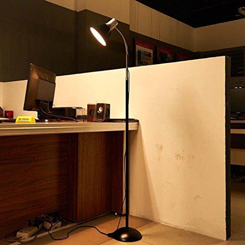 Good thing Lampadaire Simple moderne lampadaire salon chambre lampe de chevet étude oeil LED apprentissage lampe de sol (Couleur : NOIR)