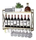 Estantería de vino bastidores de vino Montado de metal montado...