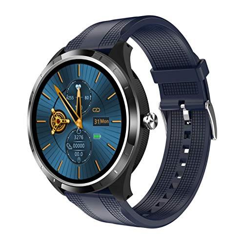 Smart Watch,GPS Waterproof Screen Fitness Watch,with Heart Rate Monitor,Pedometer,Sleep Monitor,Silent Alarm Clock,Super Battery Life,Slim Smart Bracelet(Blue)
