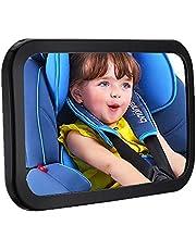 ベビーミラー 車用 インサイトミラー 赤ちゃんミラー 車内 後ろ向きチャイルドシートミラー 曲面鏡 後部座席ベビーシート監視 子供の様子を確認する補助ミラー 360度角度・方向調節可能