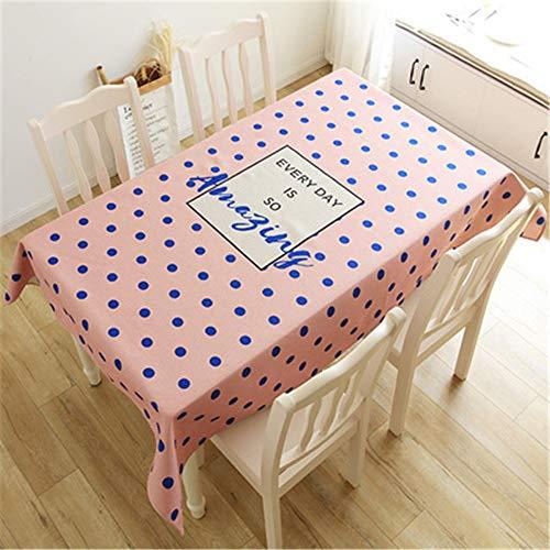 Qishi Baumwolle und Leinen Rosa geometrische Tischdecke kreativ Wohnzimmer Esszimmer Tischdecke Staubschutz Tuch, Stil 5, 140 * 200cm
