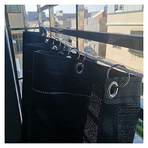 CAIJUN Draussen Pergola Datenschutzbildschirm, 75-85% Schattennetz Bewegliche Vorhänge Mit Öse, Terrasse Balkon Schatten Segel Block UV, Anpassbar (Color : Black, Size : 0.9x3m)