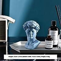 装飾用ホームクラシックデビッドバスト像肖像彫刻樹脂手芸オフィス家の装飾置物ギフト,David-lightblue