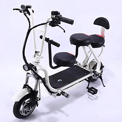 LAZNG Bicicletas eléctricas for adultos entre padres e hijos bicicleta eléctrica 48V350W...