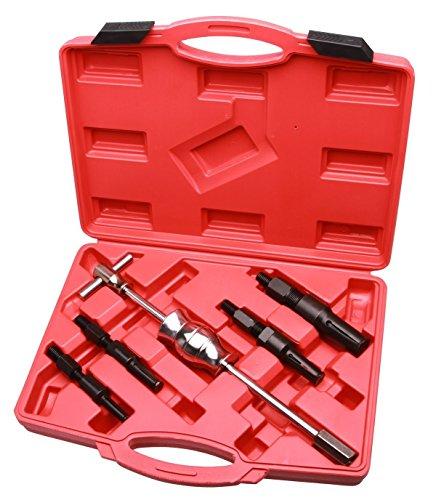 LARS360 - Estrattore cuscinetti, 5 pezzi: 1martello scorrevole e 4estrattori, da 10mm fino a 32mm