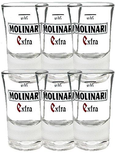 Molinari Shotgläser 6 x 2cl
