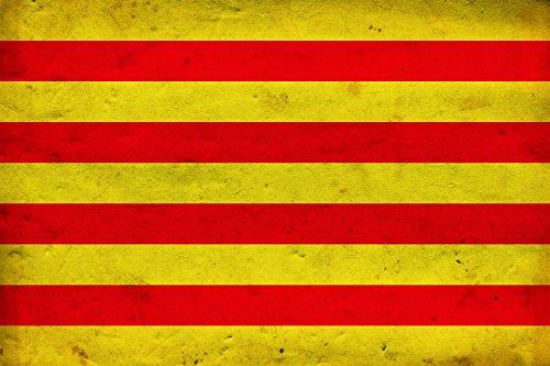 Schatzmix Calatan Flag Katalan Fahne Länderflagge Metallschild Wanddeko 20x30 cm tin Sign Blechschild, Blech, Mehrfarbig