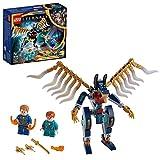 LEGO Marvel Assalto Aereo Degli Eternals, Giocattoli per Bambini di 7 Anni e Più con Action Figure Deviante, 76145
