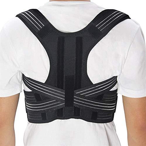MVNZXL Posture Corrector Brace Schulterstützgurt für Unisex-Gürtel Schulterhaltung, verstellbare obere Rückenstütze für Schlüsselbein zur Unterstützung von Hals, Rücken und Schulter(Size:Large)