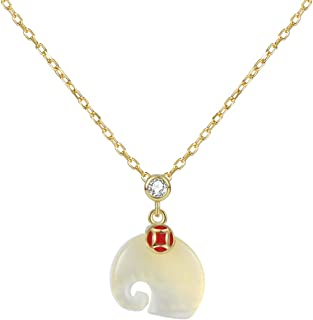 jinyi2016SHOP Necklace 925 Silver Personality Elephant Necklace Cute to Understand Shape Playful Pendant Fashion Pendant N...