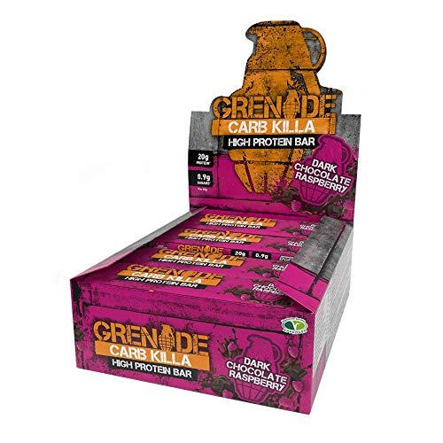 Grenade Carb Killa Hochproteinriegel, 12 x 60g - Dark Chocolate Raspberry