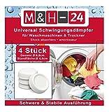 M&H-24 Waschmaschinen Unterlage Schwingungsdämpfer Vibrationsdämpfer Antivibrationsmatte - Gummi Füße für Waschmaschine & Trockner Waschmaschinenzubehör Weiß 4 Stück - 4