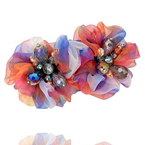 Korean version of Crystal fabric clips top clip headgear Korea women's hair ornaments horizontal clamp clip jewelry-A