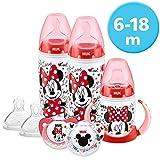 NUK Ensemble de biberons gobelet et tétines pour bébés de 6 à 18 mois Motif Disney Mickey et...
